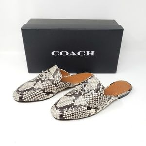 Brand New Coach Flat Shoes Snakeskin MSRP $195